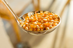 Corn in a laddle Stock Photos