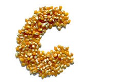 Corn letter Stock Images