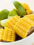 Corn and lime Stock Photography