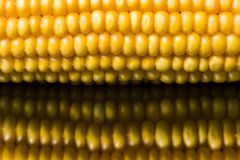 Corn, macro, yellow, ripe, appetizing, food, healthy eating Royalty Free Stock Image