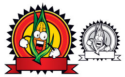 Corn mascot. A very enthusiastic mascot of a corn Royalty Free Stock Photo