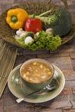 Corn & mashroom Soup Stock Photo