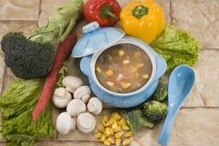 Corn & mashroom Soup Royalty Free Stock Photo