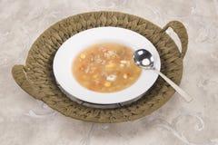 Corn & mashroom Soup Stock Image