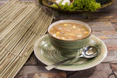 Corn & mashroom Soup Royalty Free Stock Photography