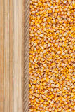 Corn, mat and rope for the menu Royalty Free Stock Images