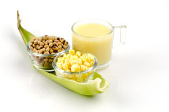 Corn milk. Royalty Free Stock Images