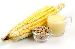Corn milk. Royalty Free Stock Photos