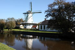 Corn mill. From 1839 in Ten Boer in the Netherlands Royalty Free Stock Images