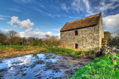 Corn mill in Bunratty Folk Park. 19th century watermill in Bunratty Folk Park, Co. Clare, Ireland Royalty Free Stock Photography
