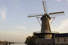 Corn mill situated beside the river IJssel Royalty Free Stock Photos