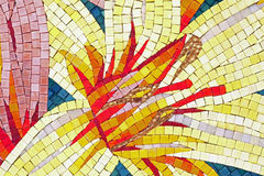 Corn mosaic. A tile depicting a colorful corn in mosaic Royalty Free Stock Photos