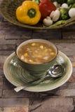 Corn & mushrooms Soup Stock Image