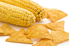 Corn with Nachos Royalty Free Stock Photography