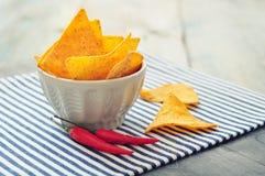 Corn nachos Royalty Free Stock Image