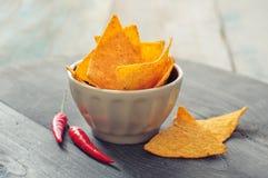Corn nachos Stock Photo
