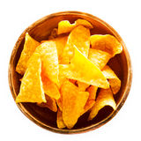 Corn nachos in a clay bowl Royalty Free Stock Photography