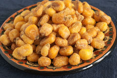 Corn Nuts. A roasted or fried and seasoned maize snack known as Cancha in South America Stock Image