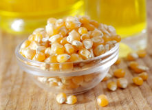 Corn and oil Royalty Free Stock Image