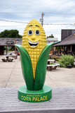 Corn Palace Corn Statue. MITCHELL, SOUTH DAKOTA - JUNE 22, 2017: The Corn Palace Corn Statue. Built in 1892 as a way for farmers to display their bounty. It is royalty free stock photography