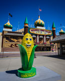 Corn Palace Corncob Statue - Mitchell, South Dakota. The Corn Palace, commonly advertised as The World's Only Corn Palace and the Mitchell Corn Palace, is a royalty free stock photos