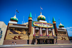 Corn Palace - Mitchell, SD. The Corn Palace, commonly advertised as The World's Only Corn Palace and the Mitchell Corn Palace, is a multi-purpose arena/facility royalty free stock photos