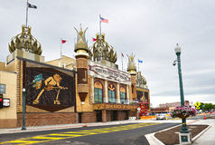 The Corn Palace. MITCHELL, SOUTH DAKOTA - JUNE 22, 2017: The Corn Palace. Built in 1892 as a way for farmers to display their bounty. It is annually coverd with stock photography