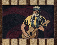 Corn Palace mural. Mural of guitar player outside the Corn Palace in Mitchell, South Dakota royalty free stock photography