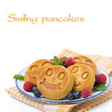 Corn pancake with berries Stock Images