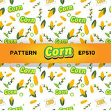 Corn pattern -  Royalty Free Stock Photos