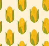 Corn pattern. Vector seamless pattern of tasty yellow corn Stock Images