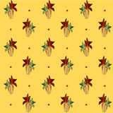 Corn pattern, yellow vector background Royalty Free Stock Photos