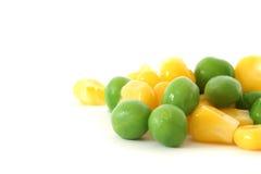 Corn and pea Royalty Free Stock Photos