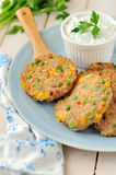 Corn, Pea and Turkey Patties Royalty Free Stock Photo