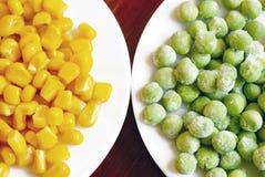 Corn and peas Royalty Free Stock Photos