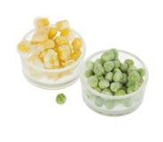 Corn and peas Stock Photos