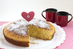 Corn pie and coffee Stock Photography