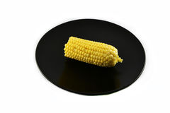 Corn on plate Royalty Free Stock Image