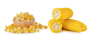 Corn and Pop Corn Stock Photography