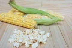Corn and popcorn Stock Photo