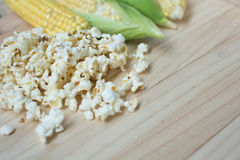 Corn and popcorn Royalty Free Stock Images
