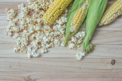 Corn and popcorn Royalty Free Stock Image