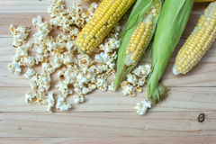 Corn and popcorn Stock Images