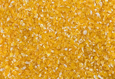 Corn porridge close uo texture. Royalty Free Stock Photo
