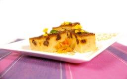 Corn and raisin cake Stock Photo
