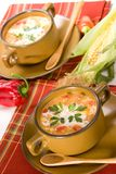 Corn and red chilli chowder Stock Image