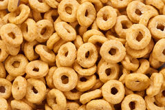 Corn rings close-up. Cereals. Royalty Free Stock Photo