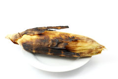 Corn roasted . Royalty Free Stock Image