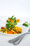 Corn salad Royalty Free Stock Photo