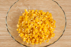 Corn in the salad bowl Stock Image